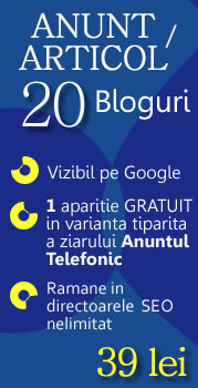 Anunt online pe 20 de bloguri