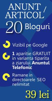 Anunt online pe 20 de bloguri