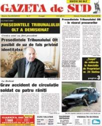 Preturi anunt ziar Gazeta de Sud, anunturi ziare Olt  |Gazeta De Sud